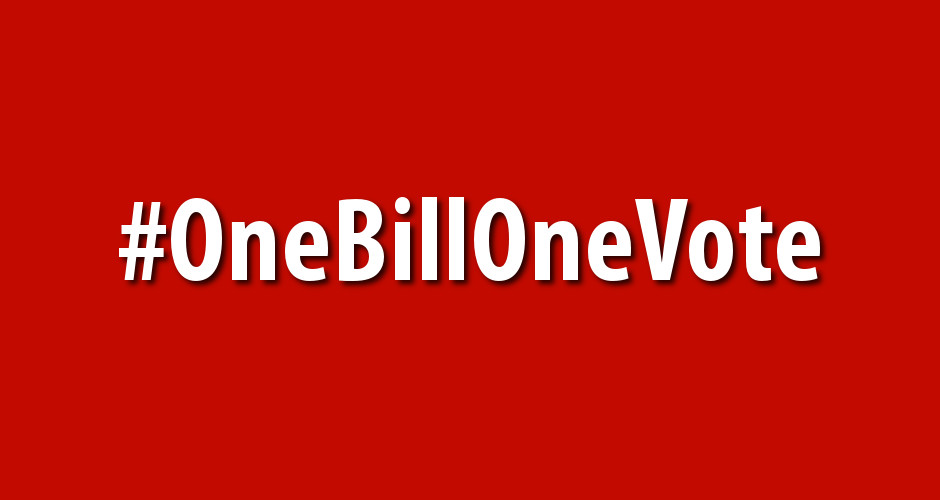 One Bill, One Vote!